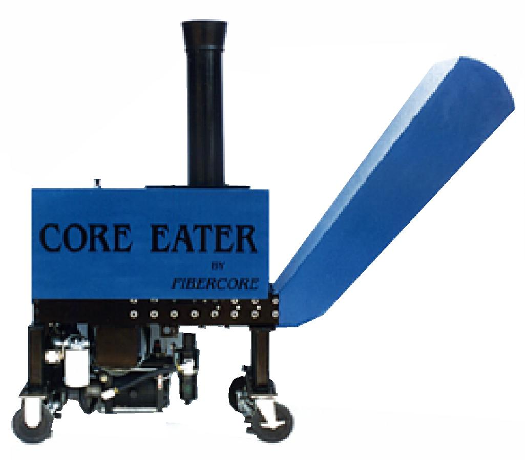 Our 3 inch Core Eater for recycling cores next to the press or converting backstand